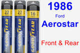 Front & Rear Wiper Blade Pack for 1986 Ford Aerostar - Assurance