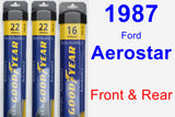 Front & Rear Wiper Blade Pack for 1987 Ford Aerostar - Assurance