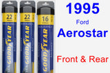 Front & Rear Wiper Blade Pack for 1995 Ford Aerostar - Assurance