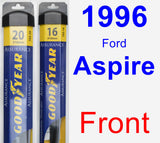 Front Wiper Blade Pack for 1996 Ford Aspire - Assurance