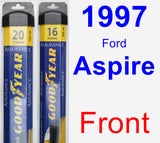 Front Wiper Blade Pack for 1997 Ford Aspire - Assurance