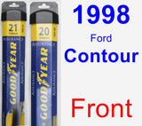 Front Wiper Blade Pack for 1998 Ford Contour - Assurance