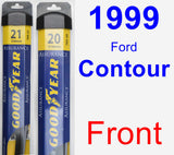Front Wiper Blade Pack for 1999 Ford Contour - Assurance