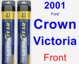 Front Wiper Blade Pack for 2001 Ford Crown Victoria - Assurance
