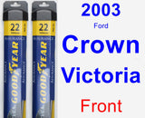 Front Wiper Blade Pack for 2003 Ford Crown Victoria - Assurance