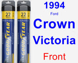 Front Wiper Blade Pack for 1994 Ford Crown Victoria - Assurance
