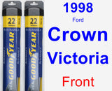Front Wiper Blade Pack for 1998 Ford Crown Victoria - Assurance