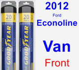 Front Wiper Blade Pack for 2012 Ford Econoline Van - Assurance