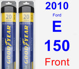 Front Wiper Blade Pack for 2010 Ford E-150 - Assurance