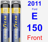 Front Wiper Blade Pack for 2011 Ford E-150 - Assurance