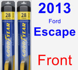 Front Wiper Blade Pack for 2013 Ford Escape - Assurance