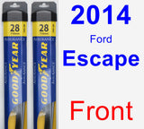 Front Wiper Blade Pack for 2014 Ford Escape - Assurance