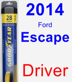 Driver Wiper Blade for 2014 Ford Escape - Assurance