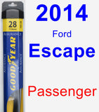 Passenger Wiper Blade for 2014 Ford Escape - Assurance