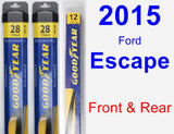 Front & Rear Wiper Blade Pack for 2015 Ford Escape - Assurance