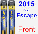 Front Wiper Blade Pack for 2015 Ford Escape - Assurance