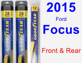 Front & Rear Wiper Blade Pack for 2015 Ford Focus - Assurance