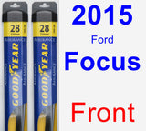 Front Wiper Blade Pack for 2015 Ford Focus - Assurance