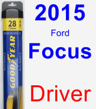 Driver Wiper Blade for 2015 Ford Focus - Assurance