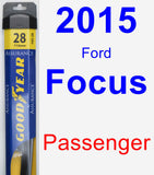 Passenger Wiper Blade for 2015 Ford Focus - Assurance