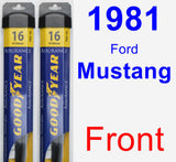 Front Wiper Blade Pack for 1981 Ford Mustang - Assurance