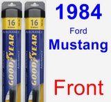 Front Wiper Blade Pack for 1984 Ford Mustang - Assurance