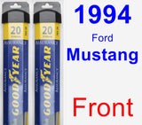 Front Wiper Blade Pack for 1994 Ford Mustang - Assurance