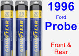 Front & Rear Wiper Blade Pack for 1996 Ford Probe - Assurance