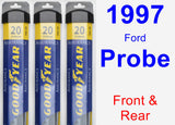 Front & Rear Wiper Blade Pack for 1997 Ford Probe - Assurance