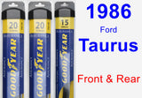 Front & Rear Wiper Blade Pack for 1986 Ford Taurus - Assurance
