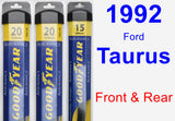 Front & Rear Wiper Blade Pack for 1992 Ford Taurus - Assurance