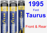 Front & Rear Wiper Blade Pack for 1995 Ford Taurus - Assurance