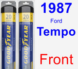 Front Wiper Blade Pack for 1987 Ford Tempo - Assurance