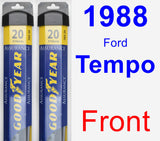 Front Wiper Blade Pack for 1988 Ford Tempo - Assurance