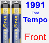Front Wiper Blade Pack for 1991 Ford Tempo - Assurance