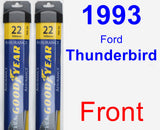 Front Wiper Blade Pack for 1993 Ford Thunderbird - Assurance