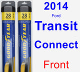 Front Wiper Blade Pack for 2014 Ford Transit Connect - Assurance