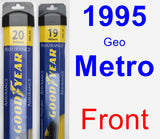 Front Wiper Blade Pack for 1995 Geo Metro - Assurance