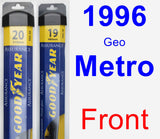 Front Wiper Blade Pack for 1996 Geo Metro - Assurance