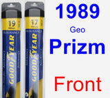 Front Wiper Blade Pack for 1989 Geo Prizm - Assurance