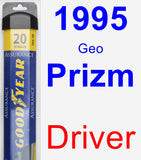 Driver Wiper Blade for 1995 Geo Prizm - Assurance