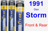 Front & Rear Wiper Blade Pack for 1991 Geo Storm - Assurance