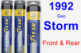 Front & Rear Wiper Blade Pack for 1992 Geo Storm - Assurance