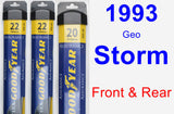 Front & Rear Wiper Blade Pack for 1993 Geo Storm - Assurance