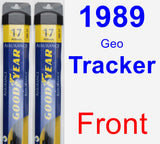 Front Wiper Blade Pack for 1989 Geo Tracker - Assurance