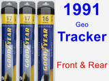 Front & Rear Wiper Blade Pack for 1991 Geo Tracker - Assurance
