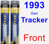 Front Wiper Blade Pack for 1993 Geo Tracker - Assurance
