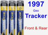 Front & Rear Wiper Blade Pack for 1997 Geo Tracker - Assurance