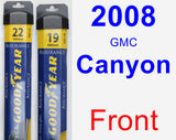 Front Wiper Blade Pack for 2008 GMC Canyon - Assurance