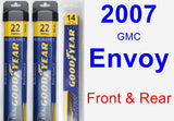 Front & Rear Wiper Blade Pack for 2007 GMC Envoy - Assurance